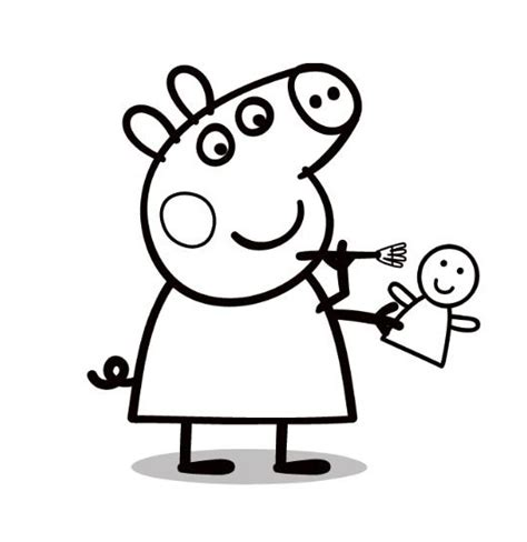 Dibujos para colorear: Peppa Pig para pintar