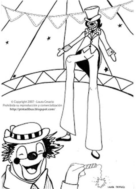 Dibujos para imprimir y colorear: Dibujo del circo para ...