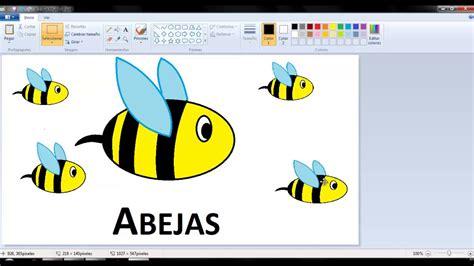 Dibujos para niños: Cómo dibujar Abejas con Paint   YouTube