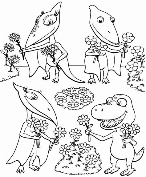 Dibujos para niños de Dinotren para pintar