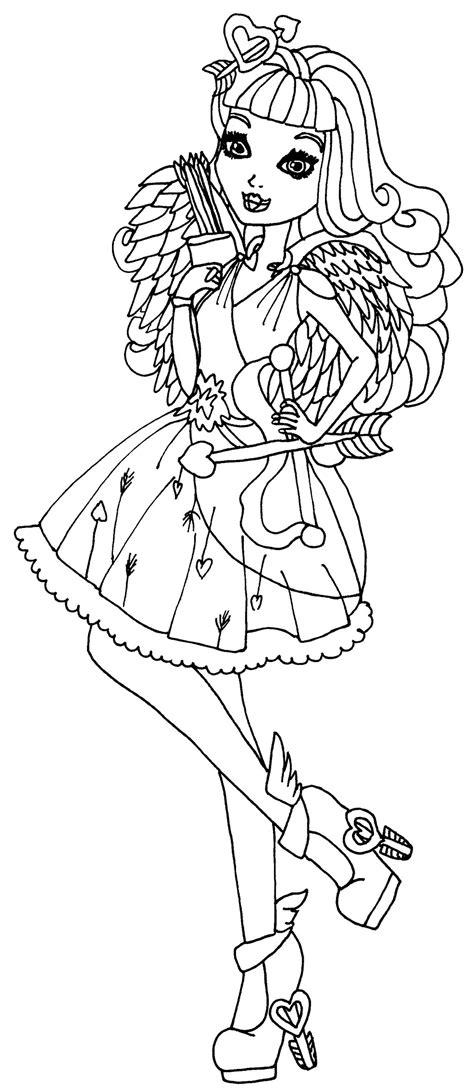 Dibujos para pintar de Cupido   Ever After High