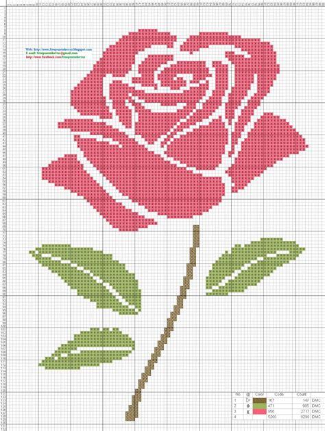 Dibujos Punto de Cruz Gratis: Flores