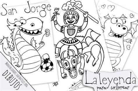 Dibujos Sant Jordi para Pintar