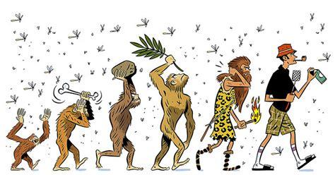 Dibujos Satíricos Sobre La Evolución Para Celebrar El Día ...