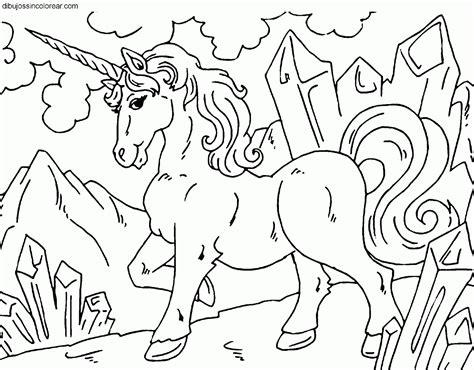 Dibujos Sin Colorear: Dibujos de Unicornios para Colorear