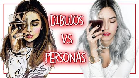 DIBUJOS V.S PERSONAS   Imitando DIBUJOS Tumblr | Kika ...