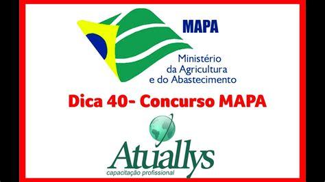 DICA 40 DE 100   Concurso Ministério da Agricultura   MAPA ...