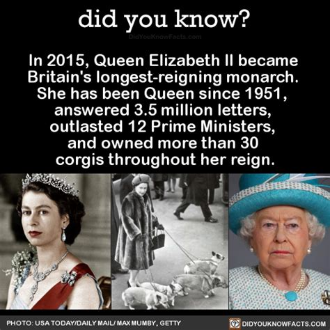 did you know?   In 2015, Queen Elizabeth II became Britain ...