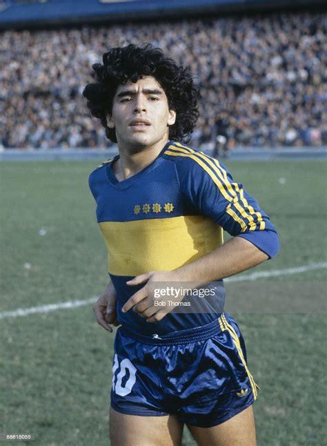 Diego Maradona of Boca Juniors during the Boca Juniors v ...