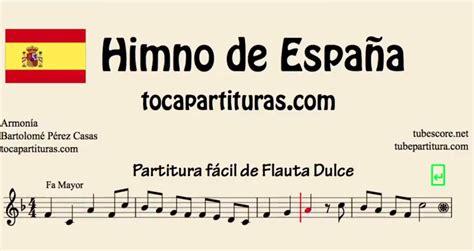 diegosax: Himno de España Partitura de Flauta, Violín ...