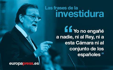 Diez frases de Mariano Rajoy en el debate de investidura