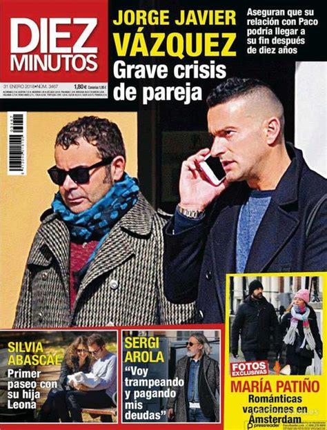 Diez Minutos revela la crisis de pareja de Jorge Javier ...