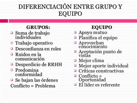 DIFERENCIA ENTRE EQUIPOS Y GRUPOS ~ KLEDIER JOVETH VARGAS ...