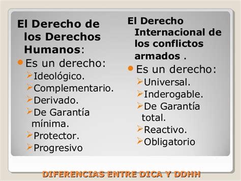 Diferencias Entre DDHH y DICA