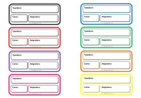 Diferentes modelos de etiquetas escolares para descargar ...