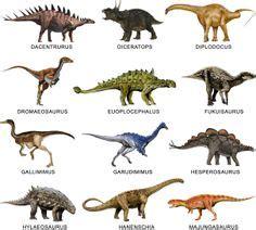 diferentes tipos de dinosaurios y sus nombres | Tipos de ...