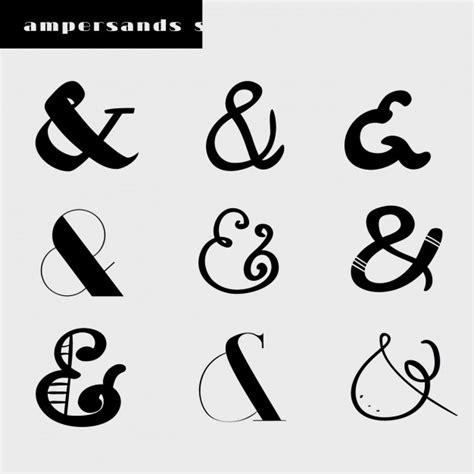 Diferentes tipos de diseños de ampersands | Descargar ...