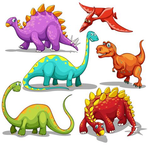Different type of dinosaurs   Download Free Vectors ...