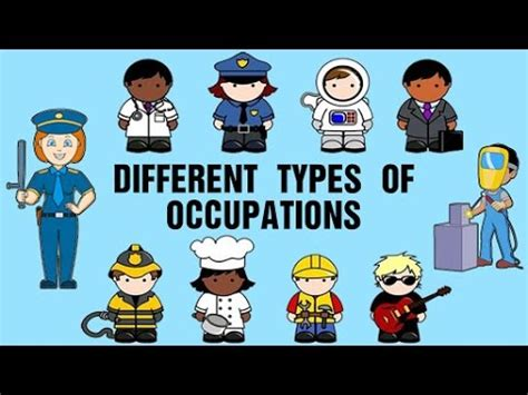 Different Types Of Occupations | Learning About Jobs And ...