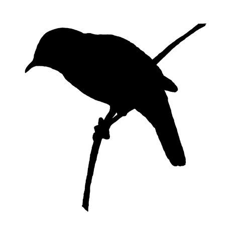 Digital Stamp Design: Free Bird Image Transfer Silhouette ...