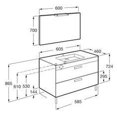 dimensiones mueble de baño en 2020 | Muebles de baño ...