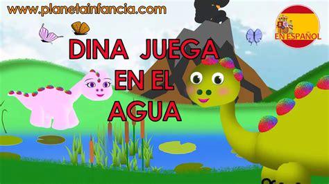 DINA JUEGA EN EL AGUA. Cuentos de dinosaurios para niños ...