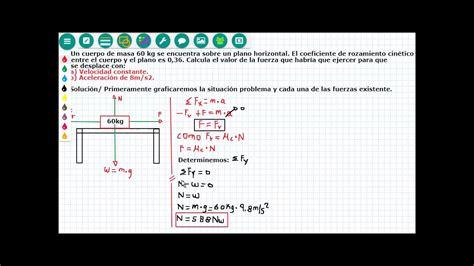 Dinámica 4. determinar la fuerza con: a  Velocidad ...