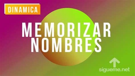 Dinamica para Memorizar Nombres   Dinamicas de Grupos
