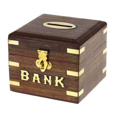 dinero seguro caja alcancía de madera para niños niñas y ...