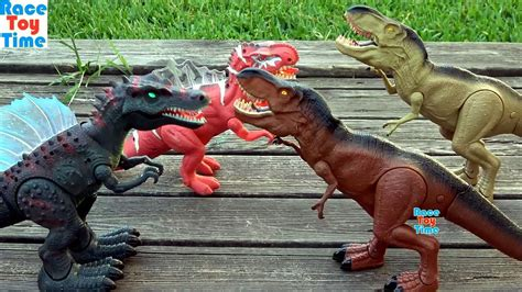 Dino Battle Compilation Videos   Dinosaurs Toys For Kids ...