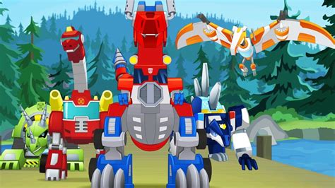 Dino Robot Dinosaur Corps 2 T.Rex Almighty vs Transformers ...