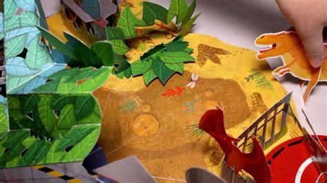 Dinopark   Libro pop up infantil sobre dinosaurios   YouTube