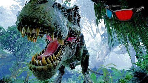 Dinosaur 3D Anaglyph 3D Jurassic Park Simulation [HD 3D ...