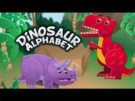 Dinosaur Alphabet Song   Kids learn the ABCs with T Rex ...