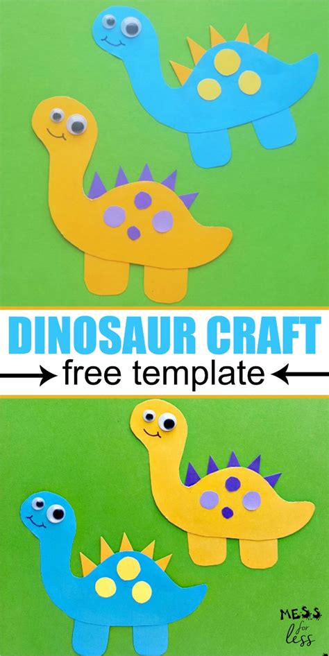 Dinosaur Craft for Kids   Mess for Less