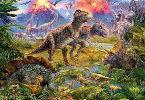 Dinosaur Gathering Jigsaw by Educa  15969, 500 pieces ...