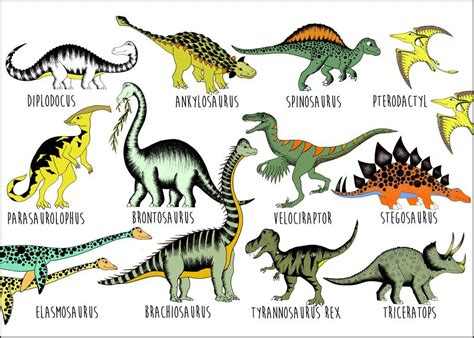 Dinosaur Name Chart / Large / 50cm x 70cm in 2020 ...