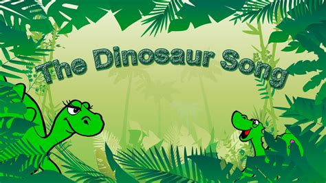 Dinosaur Song for Kids Learning English | Simple Song and ...
