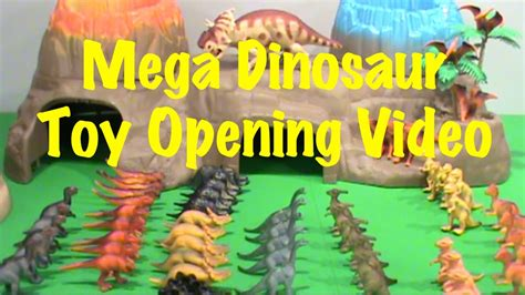 Dinosaur Toy Video for Kids Opening 60+ Toy Dinosaurs ...