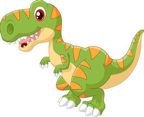 Dinosaurio adorable de dibujos animados   Vector Premium