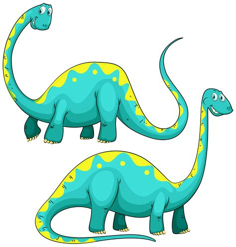 Dinosaurio con cuello largo.   Descargar Vectores Gratis ...