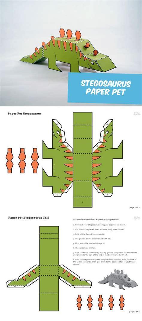 dinosaurio de kirigami | Manualidades de papel para niños ...