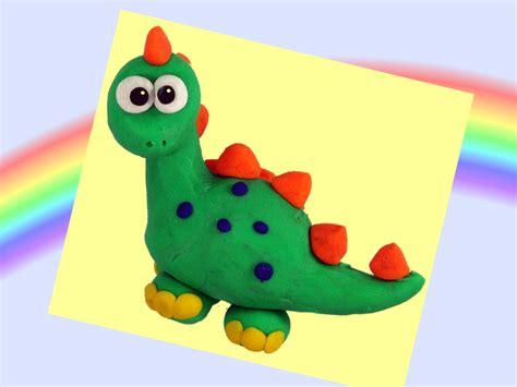 Dinosaurio de plastilina, cómo hacer un dinosaurio de ...