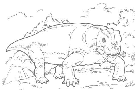 Dinosaurio para pintar HD | DibujosWiki.com