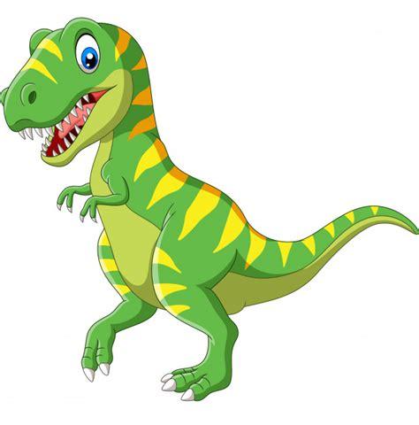 Dinosaurio verde de dibujos animados | Vector Premium