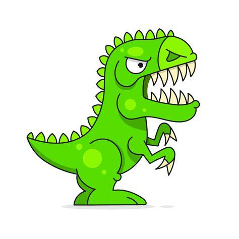 Dinosaurio verde lindo aislado en el fondo blanco ...