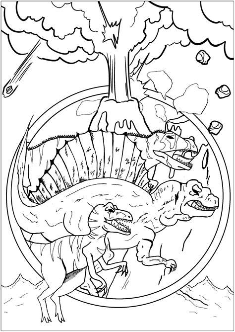 Dinosaurios 36051   Dinosaurios   Colorear para Adultos