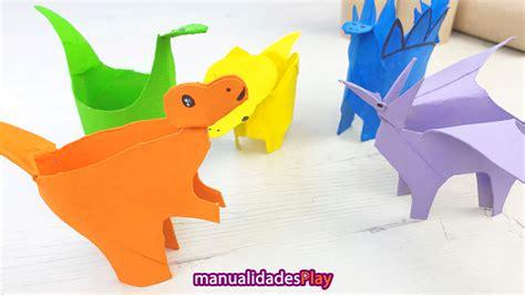 Dinosaurios con rollos de papel higiénico  Reciclaje para ...