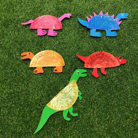 Dinosaurios de colores con platos de cartón – La Magia de ...
