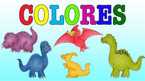 Dinosaurios de colores para niños /Aprende los colores ...